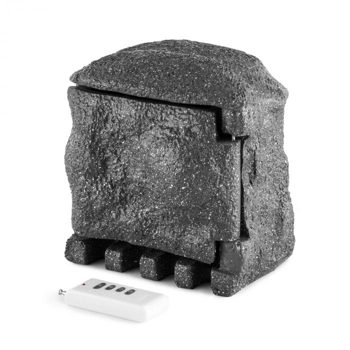 Power Rock Remote Gartensteckdose 4-fach Verteiler 5m Fels dunkelgrau