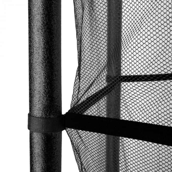 Rocketkid Trampolin 140cm Sicherheitsnetz innen Bungeefederung schwarz