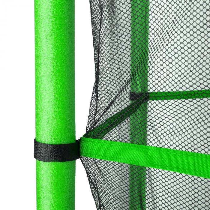 Rocketkid Trampolin 140cm Sicherheitsnetz innen Bungeefederung grün