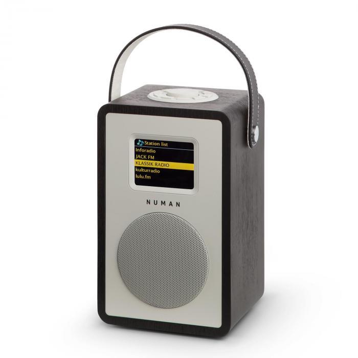 Mini Two Radio Internet di Design WIFI DLNA BluetoothVHF Nero Batteria Inclusa