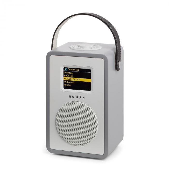 Mini Two Rádio Internet Design WiFi DLNA Bluetooth FM Cinza Bateria