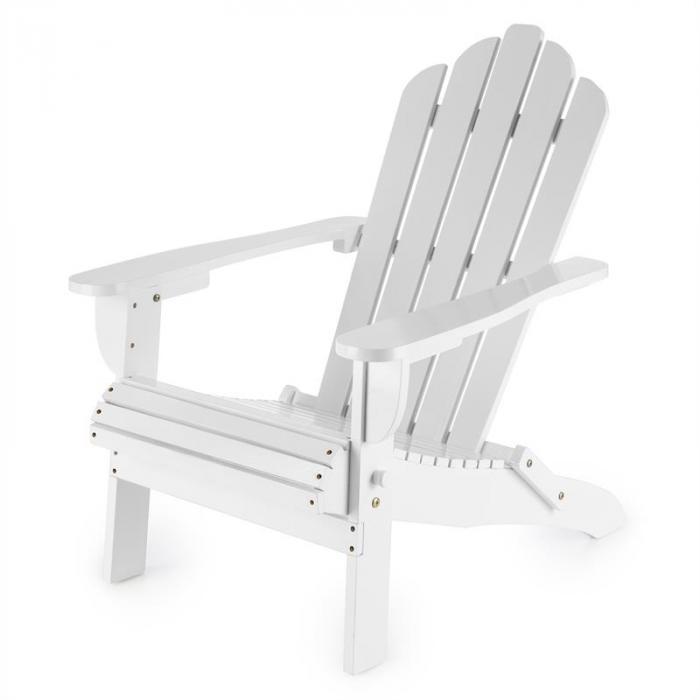 Vermont puutarhatuoli 2:n setti Adirondack-tyyli kuusipuu valkoinen