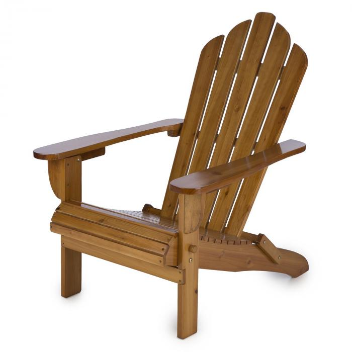 Vermont Gartenstuhl 2er Set Adirondack-Stil Tannenholz braun