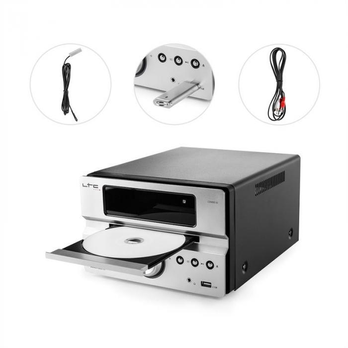 CDM90-SI micro-hifi-stereolaitteisto 40 W bluetooth USB CD FM/MW hopeanvärinen