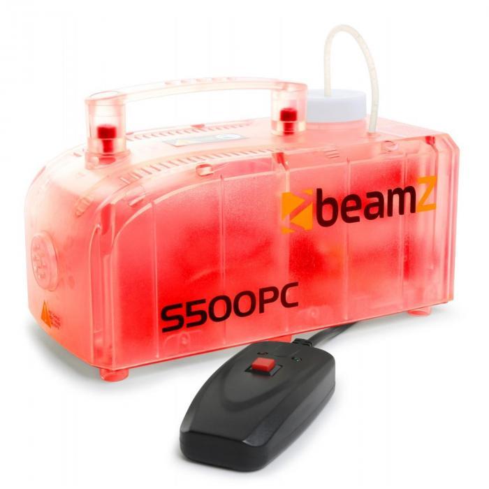 S500PC Macchina del fumo RGB LED 500 W incl. fluido Trasparente