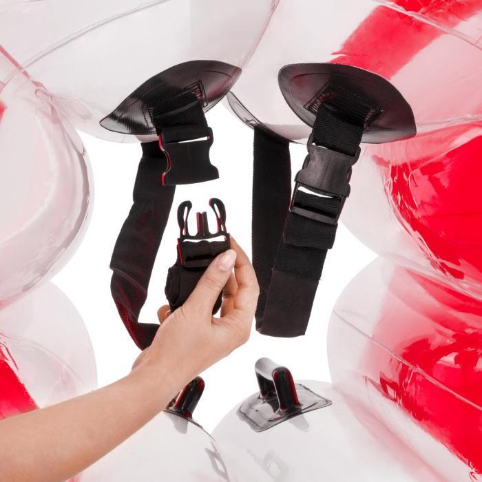 Bubball KR puhallettava kuplapallo lapsille 75 x 110 cm EN71P PVC punainen