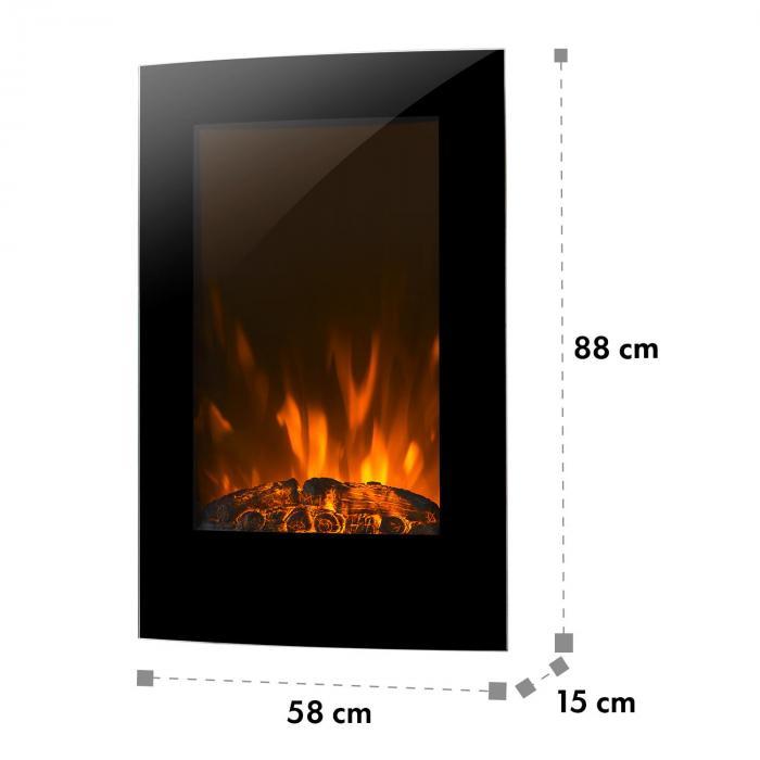 lausanne vertical elektrischer kamin 2000 watt. Black Bedroom Furniture Sets. Home Design Ideas