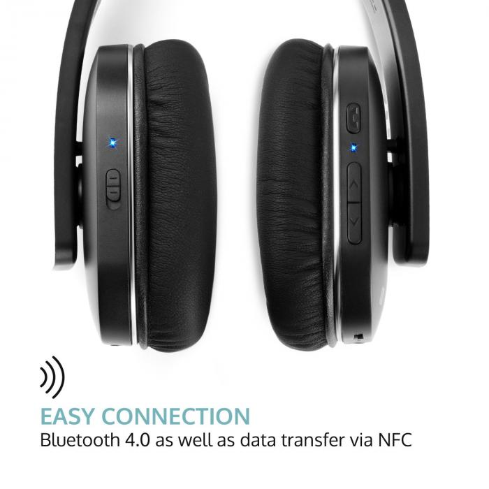 Elegance ANC Bluetooth-NFC-kuulokkeet handsfree melunvaimennin musta