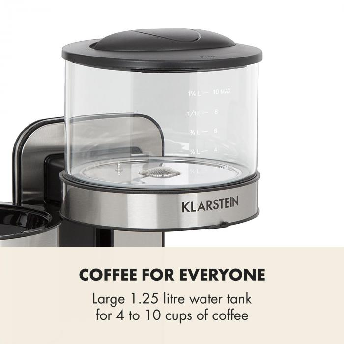 Soulmate kahvinkeitin suodatinkahvinkeitin 1800 W lasia ruostumatonta terästä