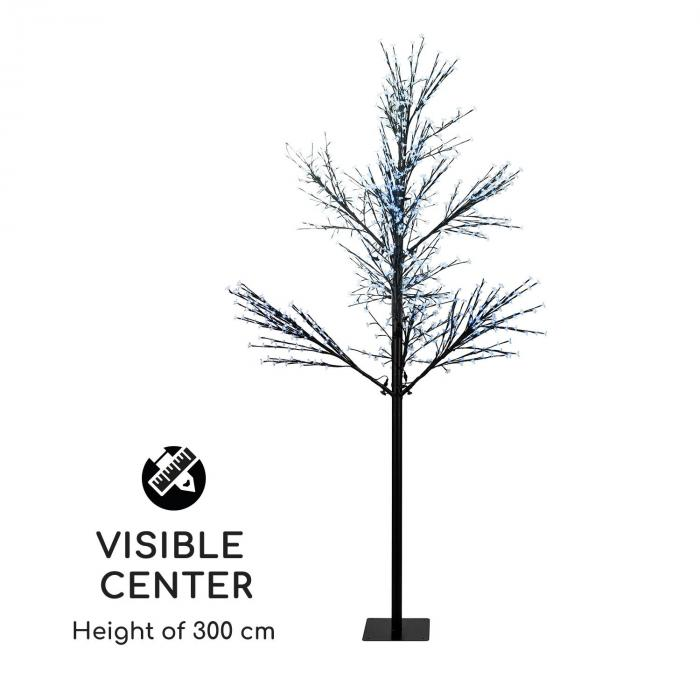 Hanami CW 300 Lichterbaum Kirschblüten 300cm 1080 LEDs kaltweiß