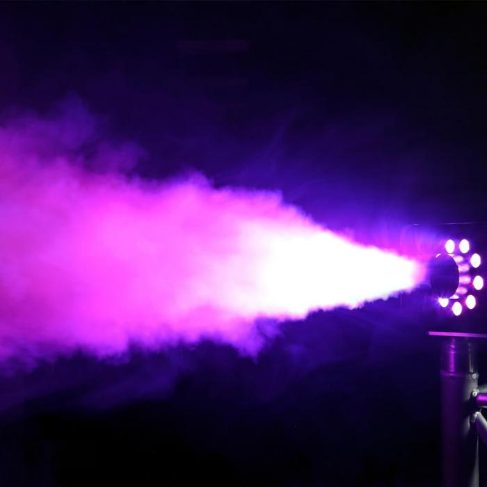 S1500LED Nebelmaschine 1500W 9x3W RGB-LEDs DMX 2,5L Tank