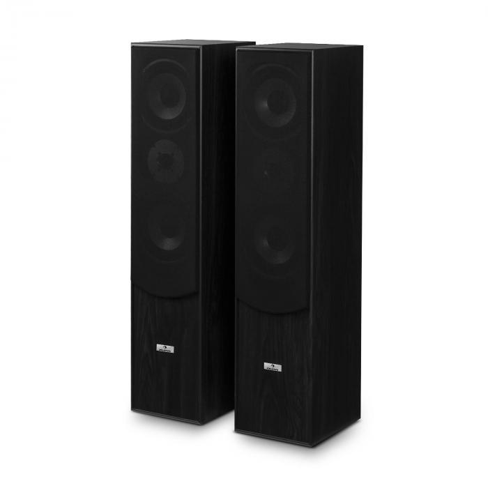 l766 3 wege bassreflex hifi boxen paar schwarz online kaufen elektronik star de. Black Bedroom Furniture Sets. Home Design Ideas