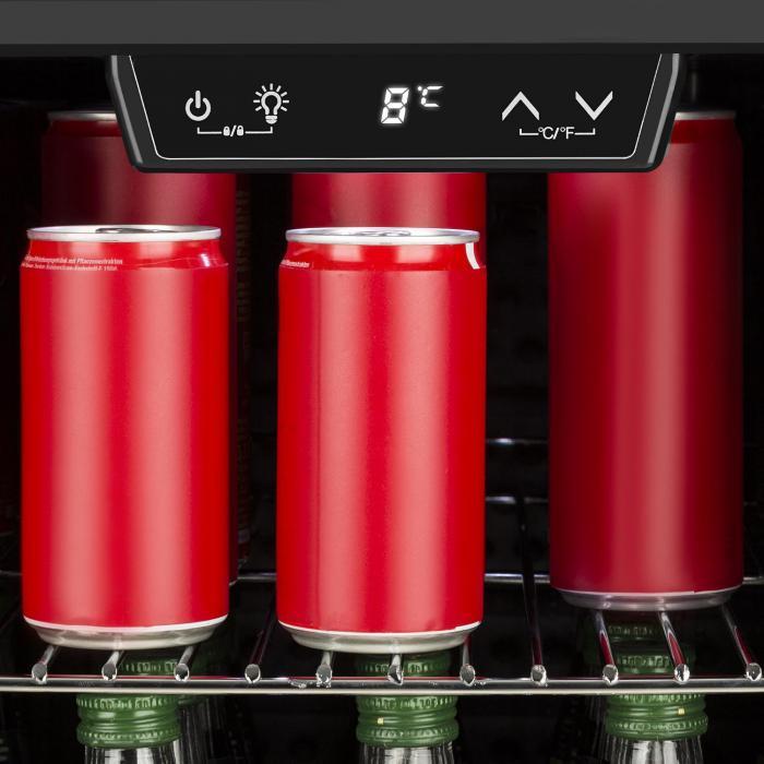 Beersafe 4XLMinifrigorifero per Bevande 124 l 0-10°C Vetro EEK + Acciaio inox