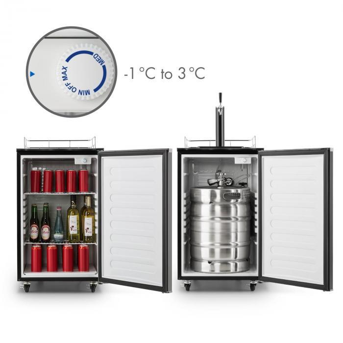 Big Spender Single Refrigerador de barriles de cerveza Juego completo Barriles de hasta 50l