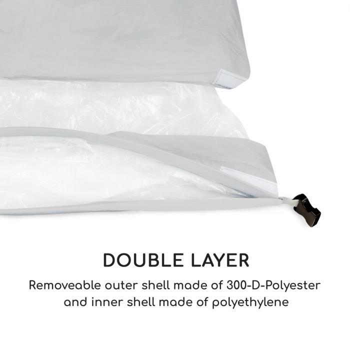 Airlounge Luftsofa 90x80x150cm Rucksack waschbar Polyester grün