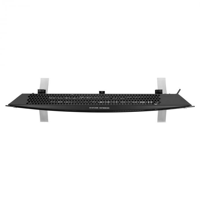 Bornholm Curved Riscaldatore a Convezione Termostato Timer 2000W nero