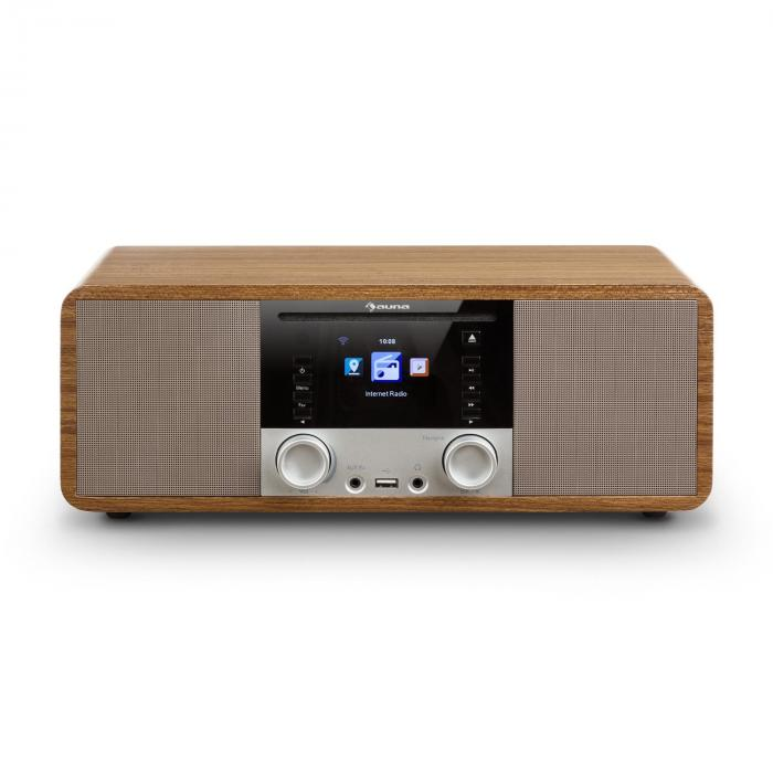 IR-190 InternetRadio CD-Player WiFi UPnP USB Remote ControlWalnut