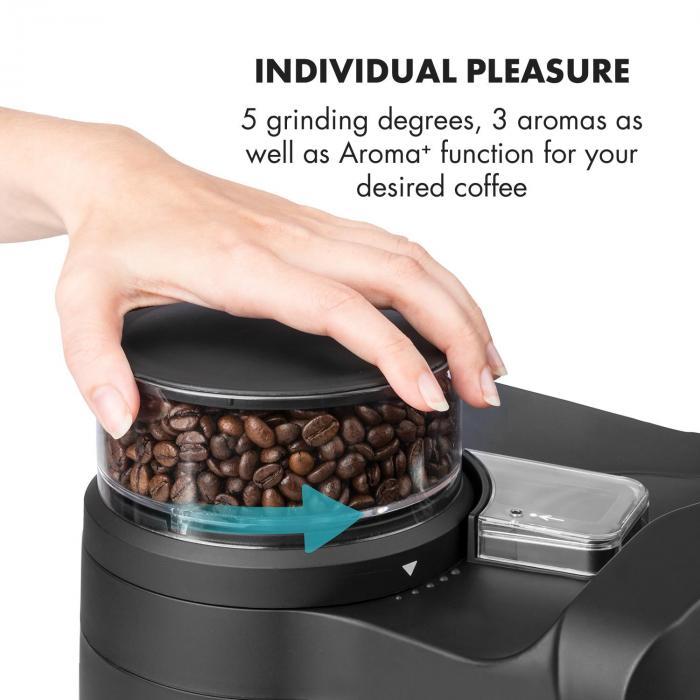 Aromatica kahvikone mylly 10 kuppia lasikannu aroma+ musta