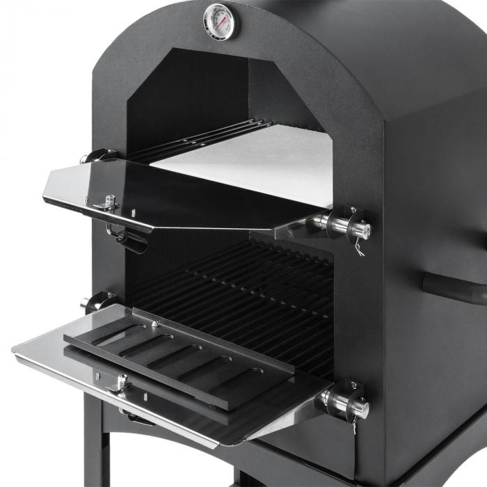 Pizzaiolo Perfetto pizzaoven 30,5 x 30,5cm echt steen 1,2 mm staal mobiel