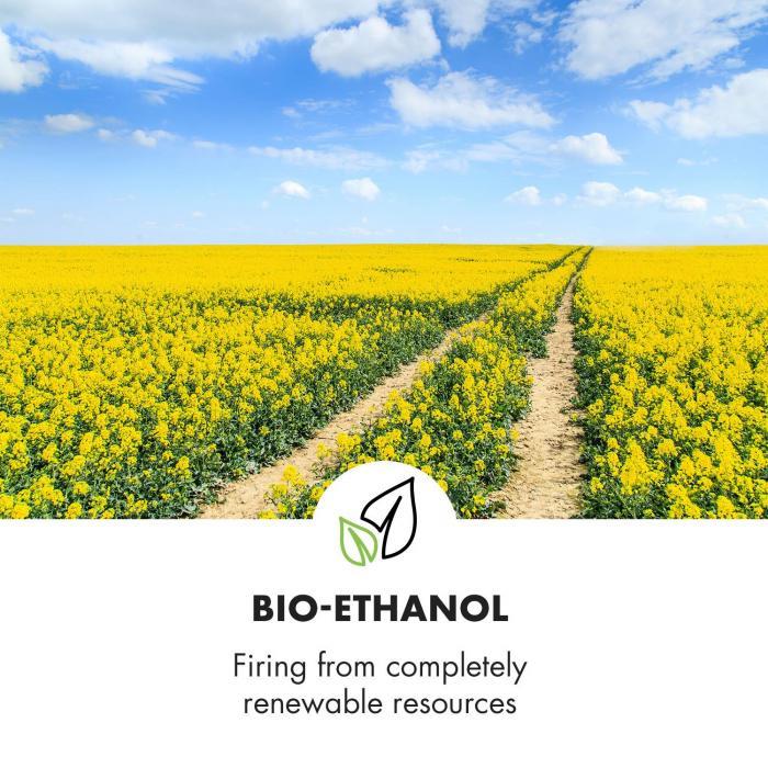 Phantasma Glassy Ethanol-Kamin rauchfrei Edelstahl-Brenner Edelstahl