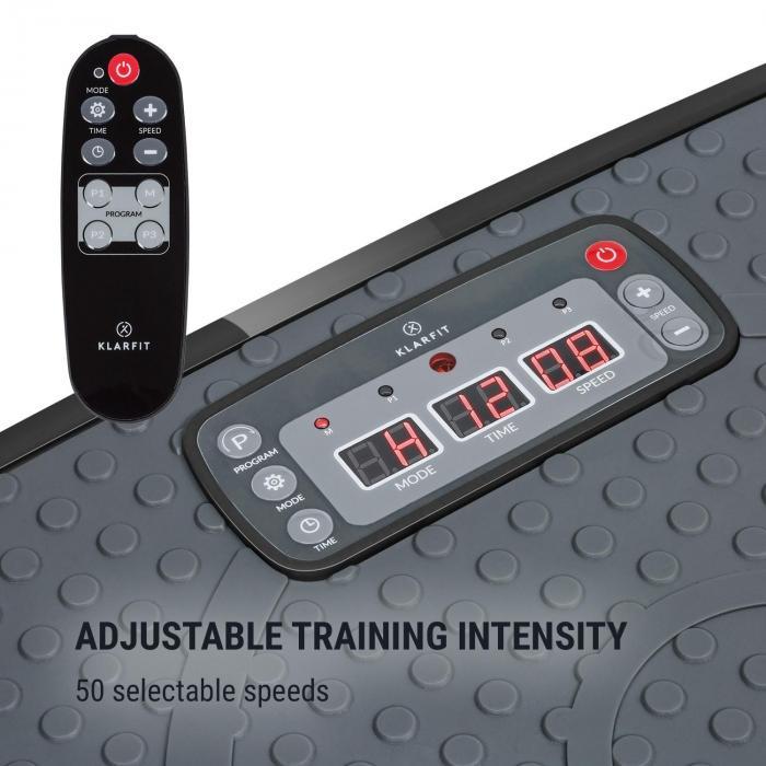 Vib 1000 Plataforma vibratoria 5 modos Duración e intensidad regulables negra