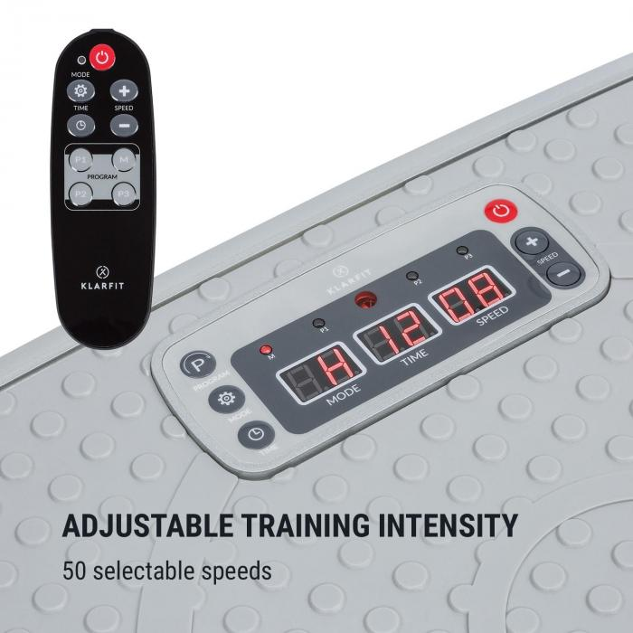 Vib 1000 Vibration Plate 5 Modes Adjustable Duration & Intensity Silver