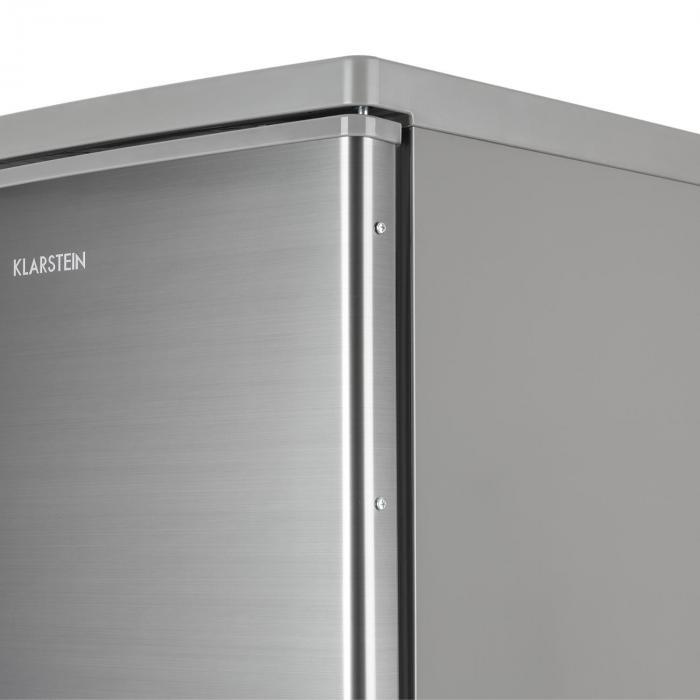 CoolZone 120 Eco jääkaappi-pakastin A+++ 118 litraa teräsulkonäkö