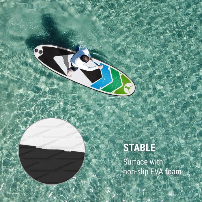 Spreestar 325 aufblasbares Paddelboard Set 325 x 15 x 86 schwarz-blau