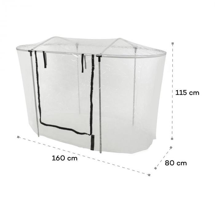 High Grow Top 160 Gewächshaus-Aufsatz 160x115x80cm Stahlrohr PVC