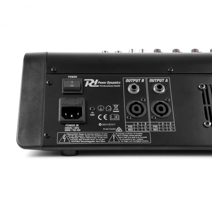 PDM-M1204A 12 x microfooninput 24-bit multi-FX processor USB speler