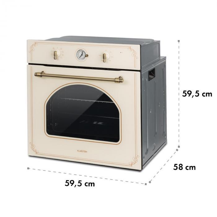 Victoria Set Built-in Oven Extractor Hood Retro Design Ivory