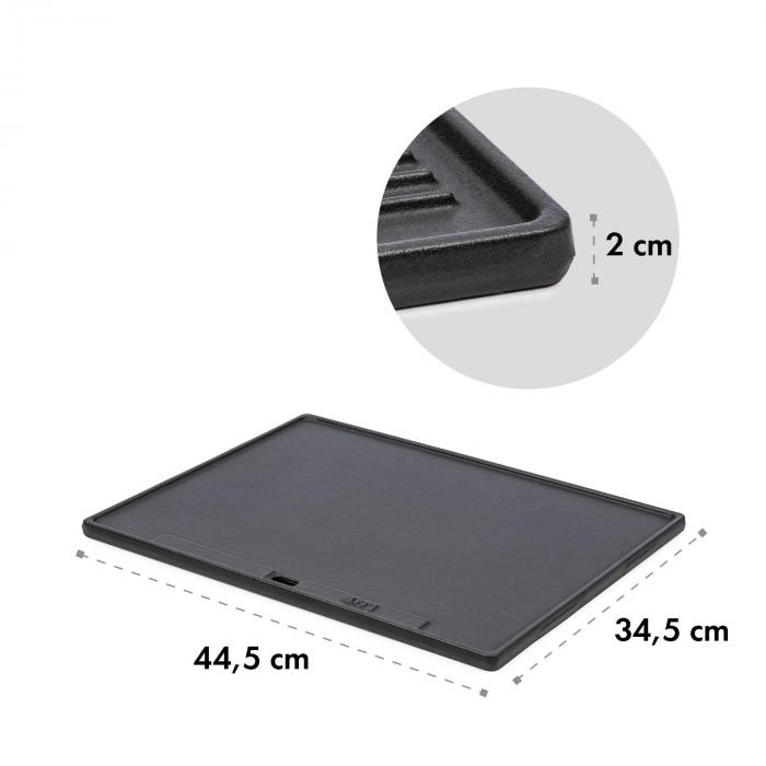 Highgrade-Plate Grillskiva i gjutjärn 44,5 x 34,5 cm emaljerad