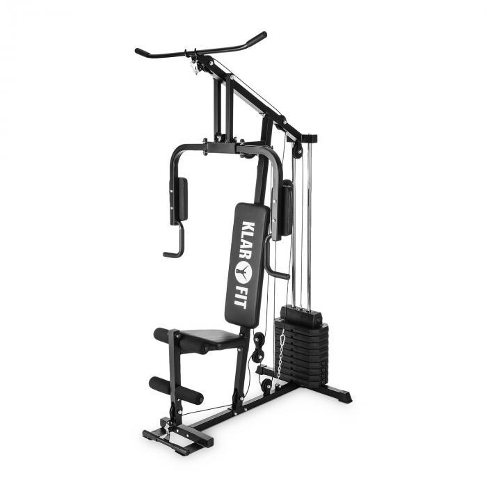 Strongbase Multi-HomeGym Kabeltrainer 100 lb / 45 kg 3 Kabelzüge schwarz
