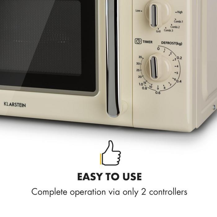 Caroline Microwave Retro Cream