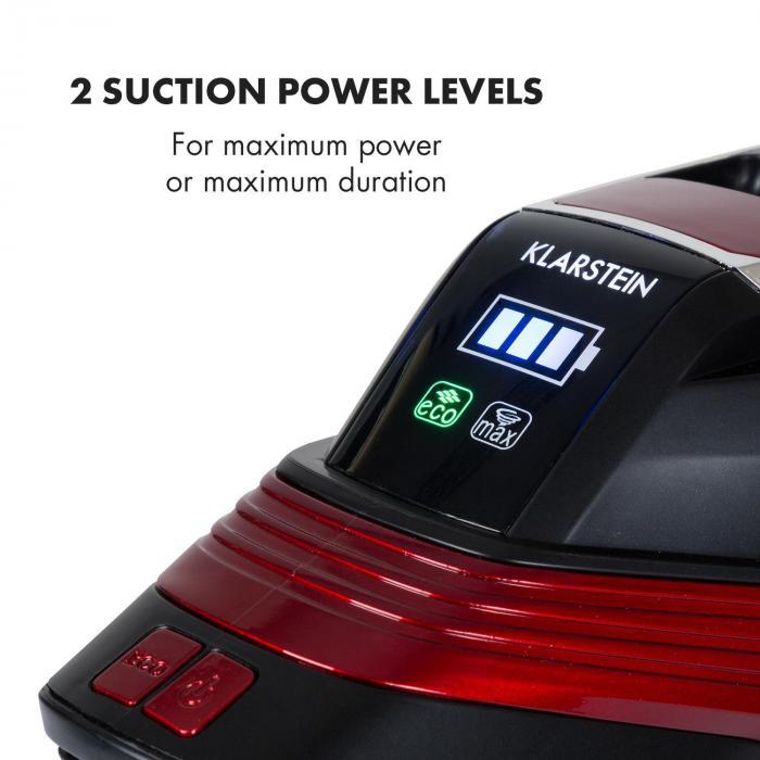 Cleanbutler 3G Turbo Akku-Staubsauger 0,7l HEPA13 rot/schwarz