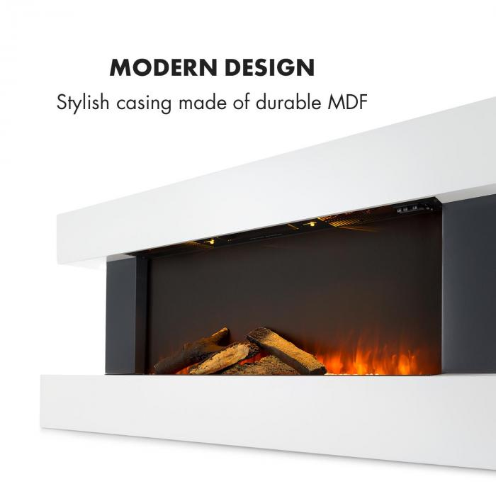 Studio Light & Fire 1 takka 1000/2000 W MDF kaukosäädin valkoinen