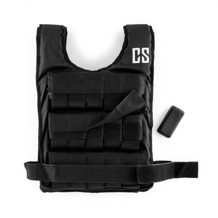 Monstervest Weight Vest 15 kg Uni-Size Nylon Black