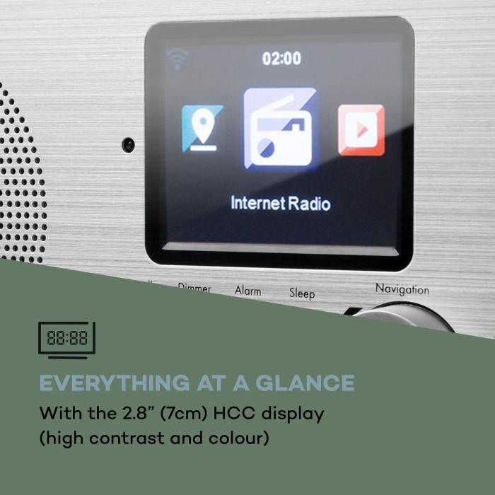 Silver Star Mini Internet DAB + / FM Radio, WiFi, BT, DAB + / FM, Oak