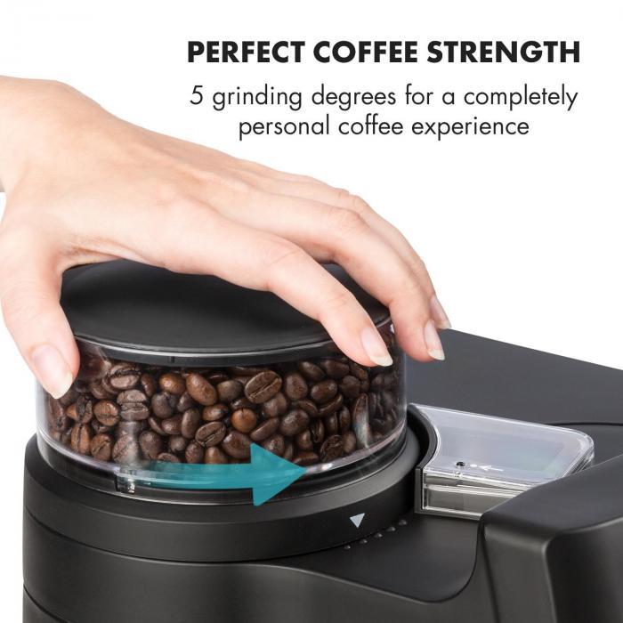 Aromatica II Duo kahvinkeitin, integroitu kahvimylly, 1,25 l musta