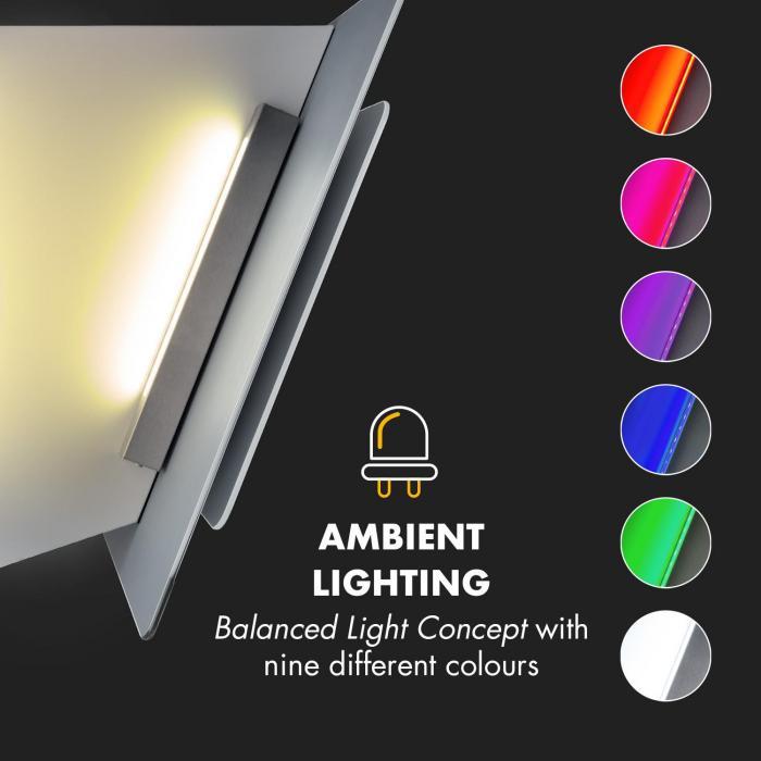 Aurora Eco 60 Campana extractora 550 m³/h Display LED Blanco