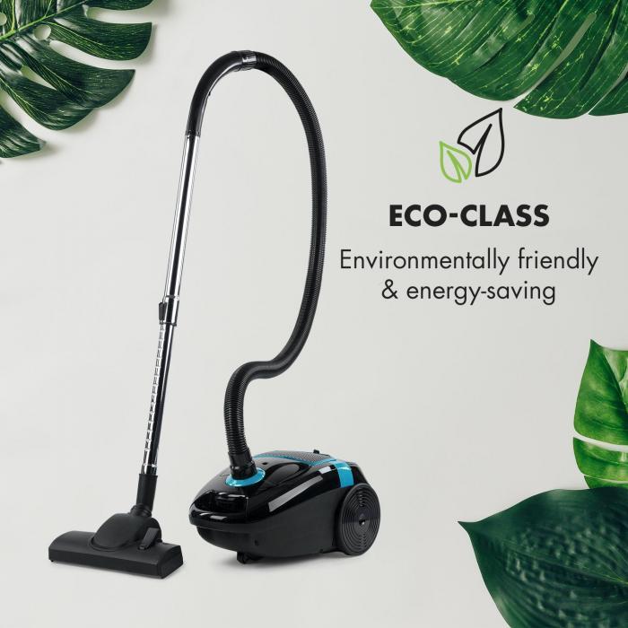 Mister Eco Odkurzacz podłogowy 450 W HEPA13 EEC-A++ czarny/niebieski