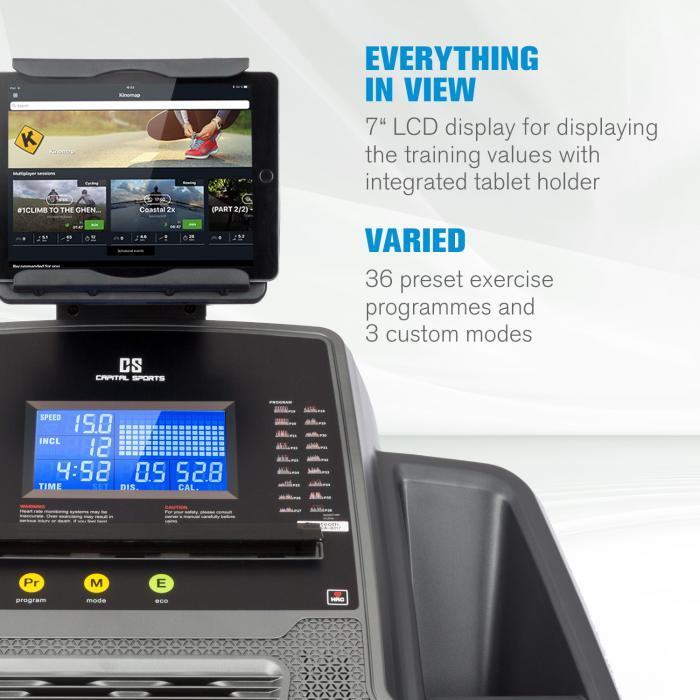 Infinity Pro 4.0 Laufband 7 PS BT Kinomap-App LCD grau