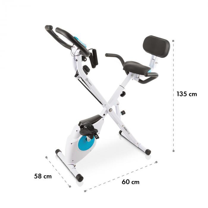 Azura Plus 3 in 1 kuntopyörä, joustava vetohihna, hihnatoiminto, valkoinen
