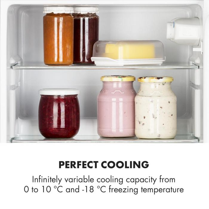 Irene Frigorífico Combinado Frigorifico com 61L Congelador com 24 L Preto
