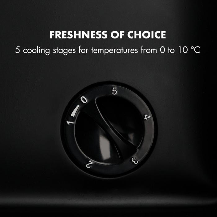 Beersafe M jääkaappi A+ LED 2 metalliritilä lasiovi musta