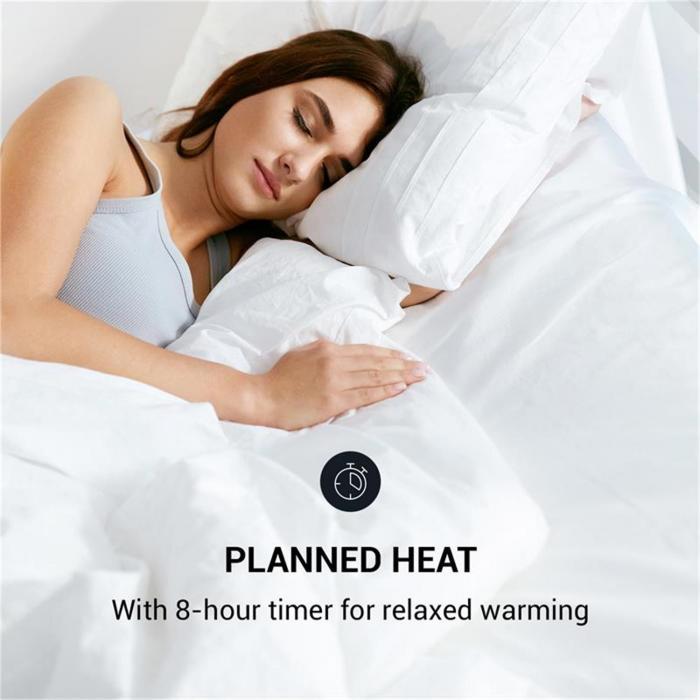 Heat Spike Aquecedor Vertical 1200/2200W Timer de 8h Termostato Preto