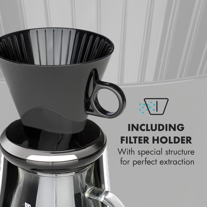 craft coffee vaaka ajastin lasikannu suodatin 600 ml musta/valkoinen