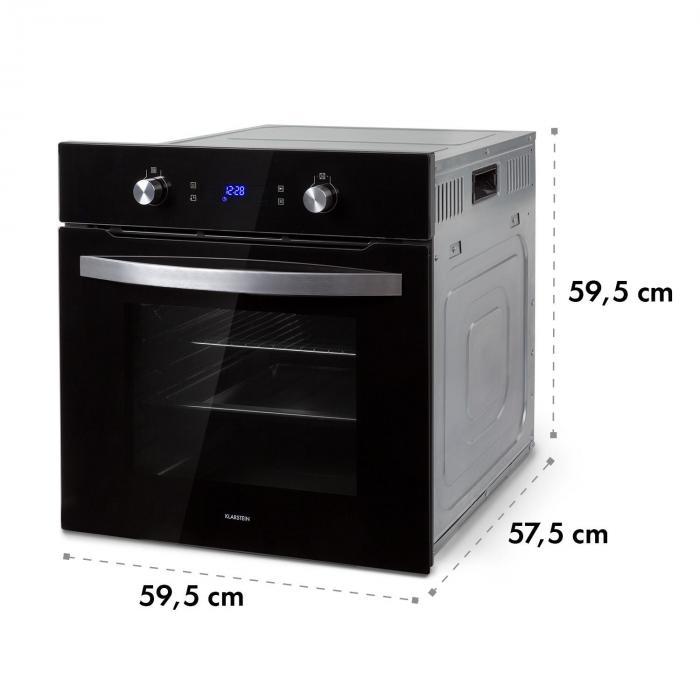 Gusteau Delicatessa set forno a incasso e induzione 7000W nero acciaio inox