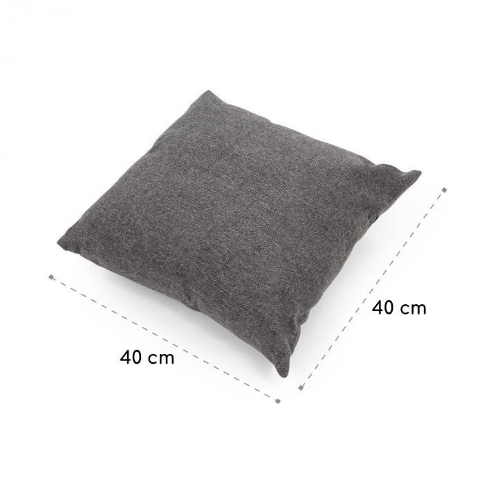 Titania Pillow Cushion Polyester Water Repellent Dark Grey Flecked
