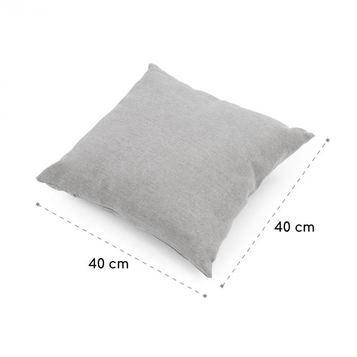 Titania Pillow Cushion Polyester Water Repellent Light Grey Flecked